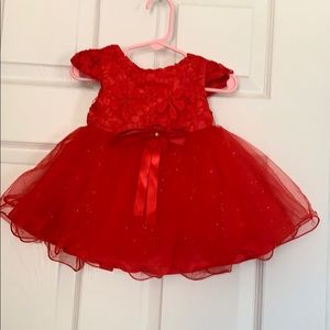 9 months Ruby Red Baby Girl Dress
